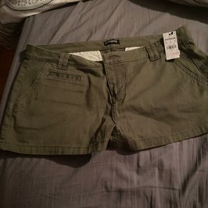 Express shorts never worn olive
